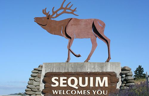 Welcome to Sequim sign