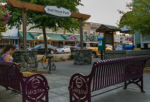 Seal Street in Downtown Sequim