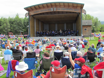 Sequim City Band Plays on the 4th of July