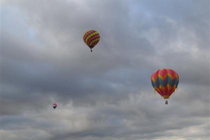 Three balloons over Sequim