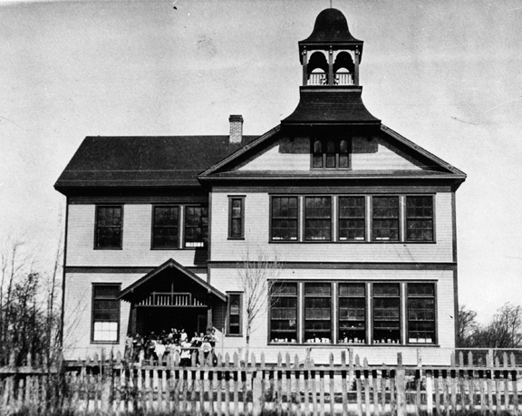 The Dungeness Schoolhouse, shown after its 1921 remodel.