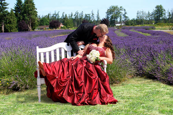 Wedding at Lost Mountain Lavender