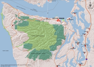 Map of the Olympic Peninsula Area